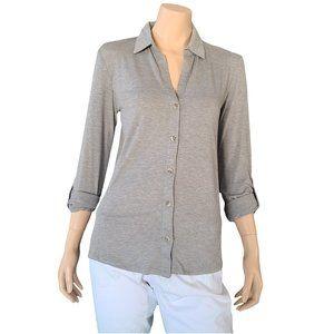 C&C CALIFORNIA NWT Gray Casual Shirt M